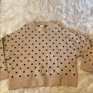 H&M's sustainable line polka dot sweater